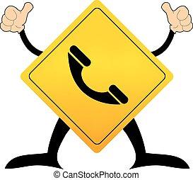 téléphone, signe