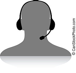 téléphone, soutien, vecteur, silhouette