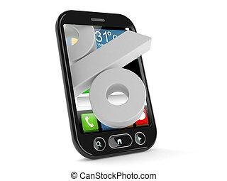 téléphone, symbole, cent, intelligent
