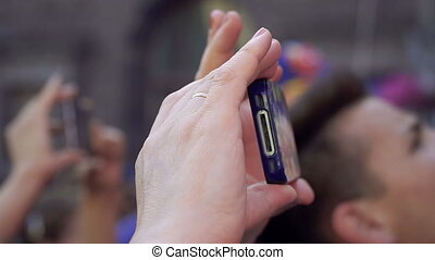 téléphone., téléphone, photos, mobile, ton, vidéos, prendre