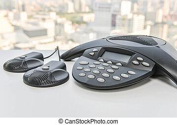 téléphone, techmology, -, bureau, ip