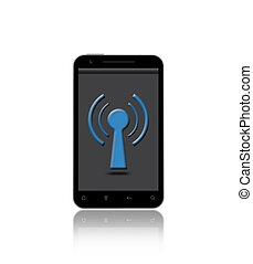 téléphone, tour, wifi, intelligent