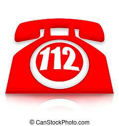 téléphone, urgence, 112