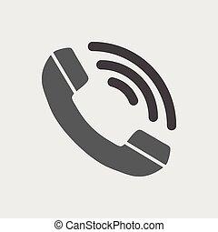 téléphone, vecteur, icône, plat