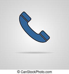 téléphone, vecteur, illustration, icône
