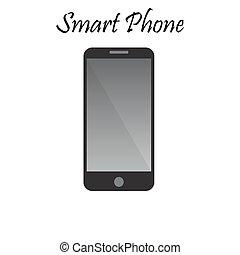 téléphone, vecteur, illustration, intelligent