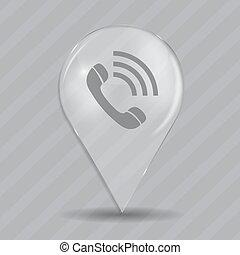 téléphone, vecteur, lustré, illustration, icône