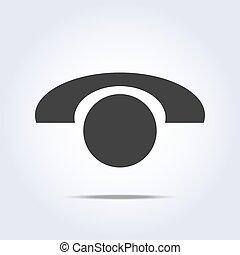 téléphone, vecteur, retro, icône