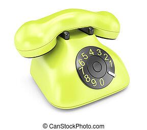 téléphone, vert