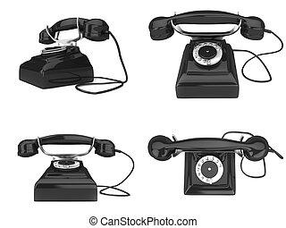 téléphone, vieux