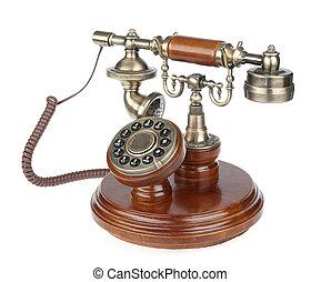 téléphone, vieux façonné