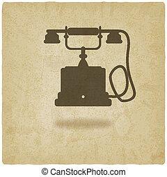 téléphone, vieux, retro, fond