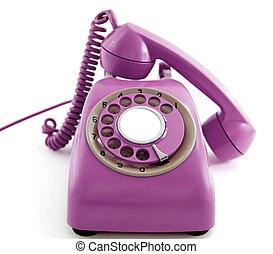 téléphone, vieux, retro