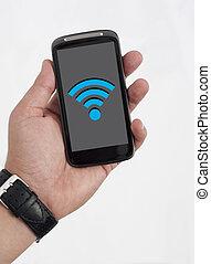 téléphone, wifi, intelligent