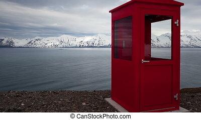 téléphone, zoom, timelapse, islande, rouges