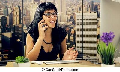 téléphoner femme, business