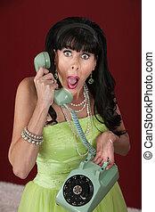 téléphoner femme, choqué