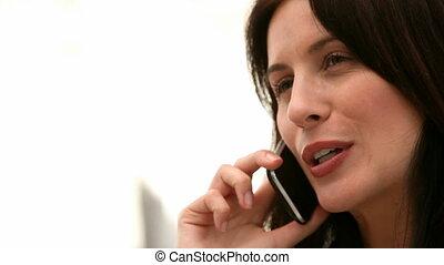 téléphoner femme, conversation