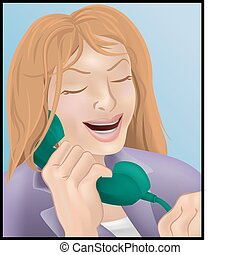 téléphoner femme