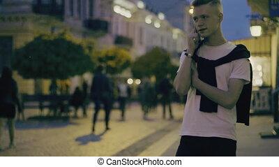téléphoner gars, conversation