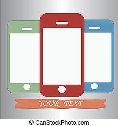 téléphones, coloré