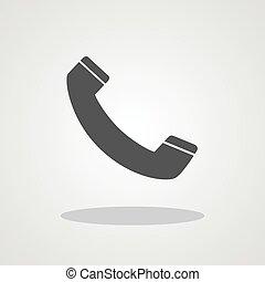 téléphonez icône, conception, plat