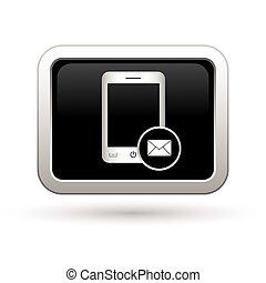 téléphonez icône, courrier, menu