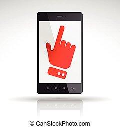 téléphonez icône, déclic, mobile
