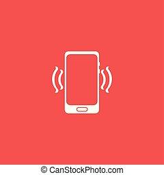 téléphonez icône, isolé, vector., illustration