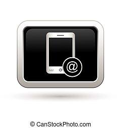 téléphonez icône, menu, courrier