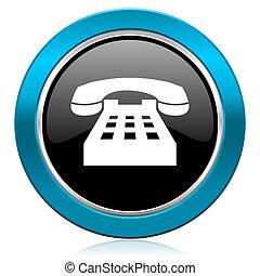 téléphonez icône, téléphone, lustré, signe