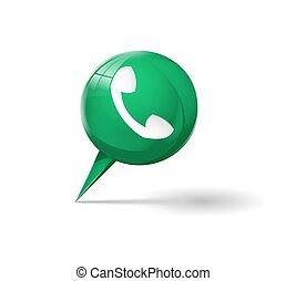 téléphonez icône, vert