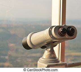 téléspectateur, binoculaire