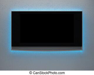 téléviseur, une