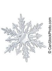 tél, áttetsző, snowflake.