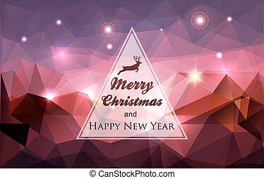 tél, ünnepek, kártya