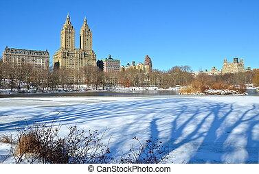tél, alatt, központi, park., új, york.