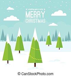tél, christmas táj