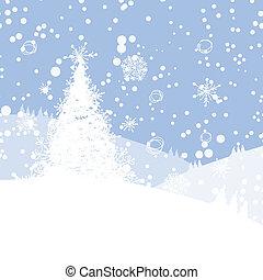 tél fa, helyett, -e, design., karácsony, holiday.