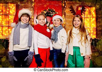 tél, gyerekek, öltözék