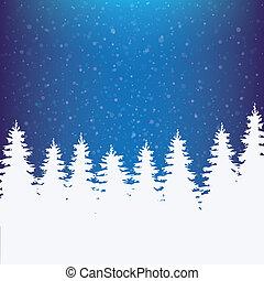 tél, havas, háttér