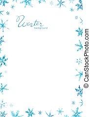 tél, poszter, karácsony, ábra, illustration., háttér, vektor, -