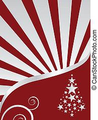 tél táj, -, karácsonyi üdvözlőlap
