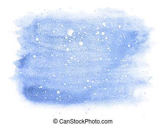 tél, vízfestmény, háttér