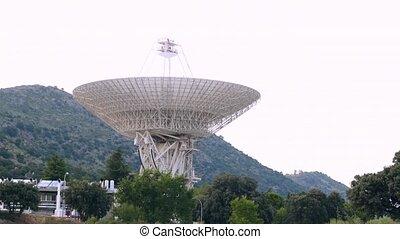 télescope, profond, nasa, timelapse, madrid, chavela, de, espace, réseau, robledo, radio