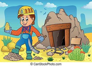 téma, 2, bányász, kép