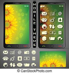 téma, mobilephone