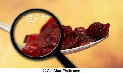 tény, táplálás, cranberries