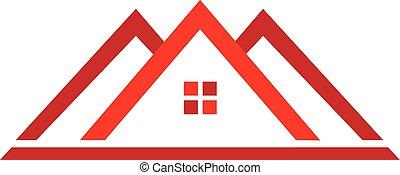 tényleges, épület, birtok, jel
