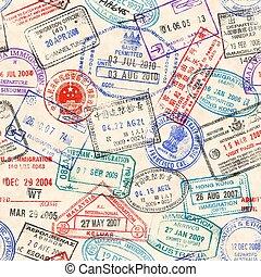 tényleges, topog, vízum, seamless, struktúra